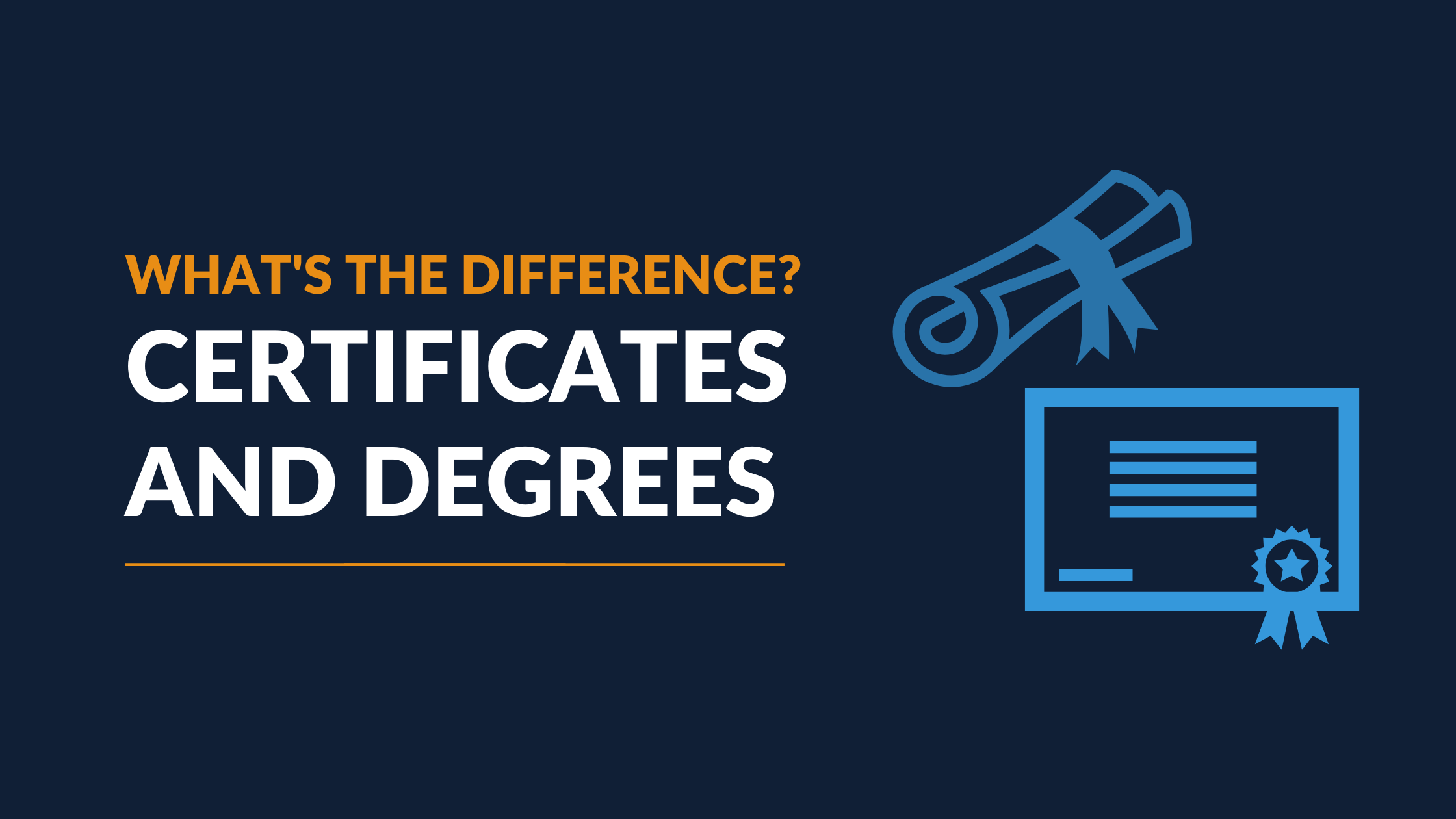 What's the Difference Between a Certificate and Degree?