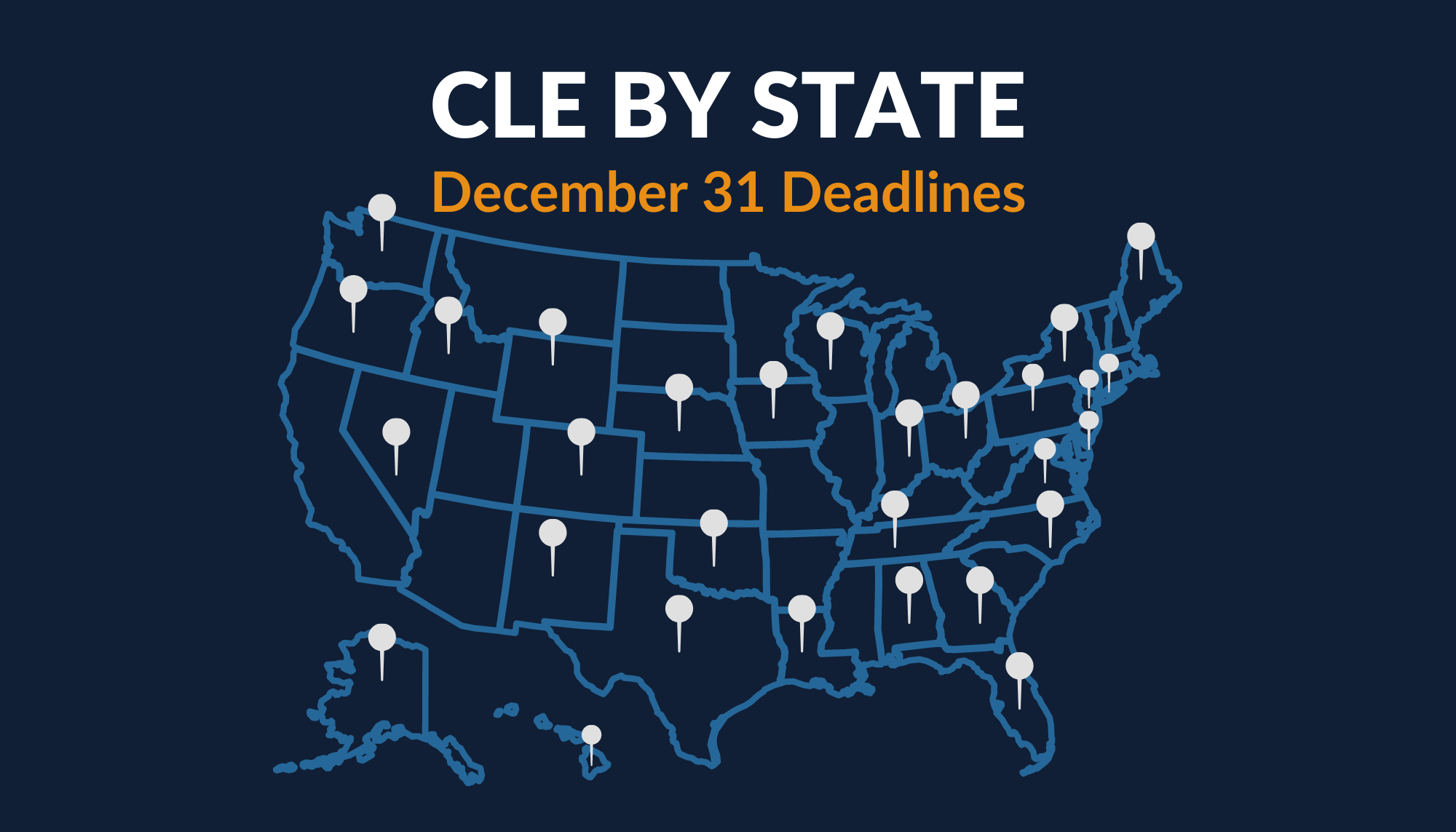 December 31st CLE Deadlines by State