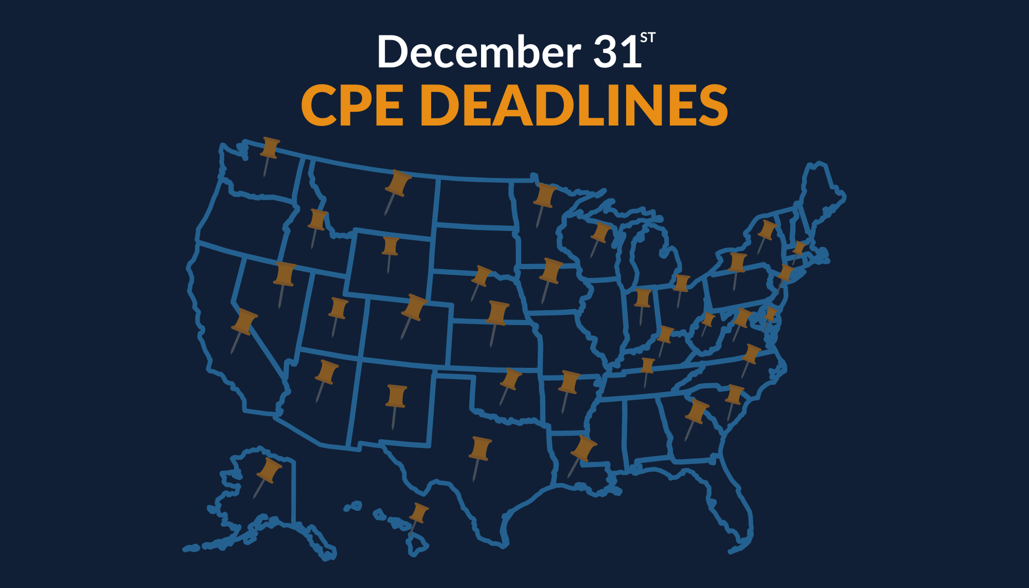 December 31st CPE Deadlines by State