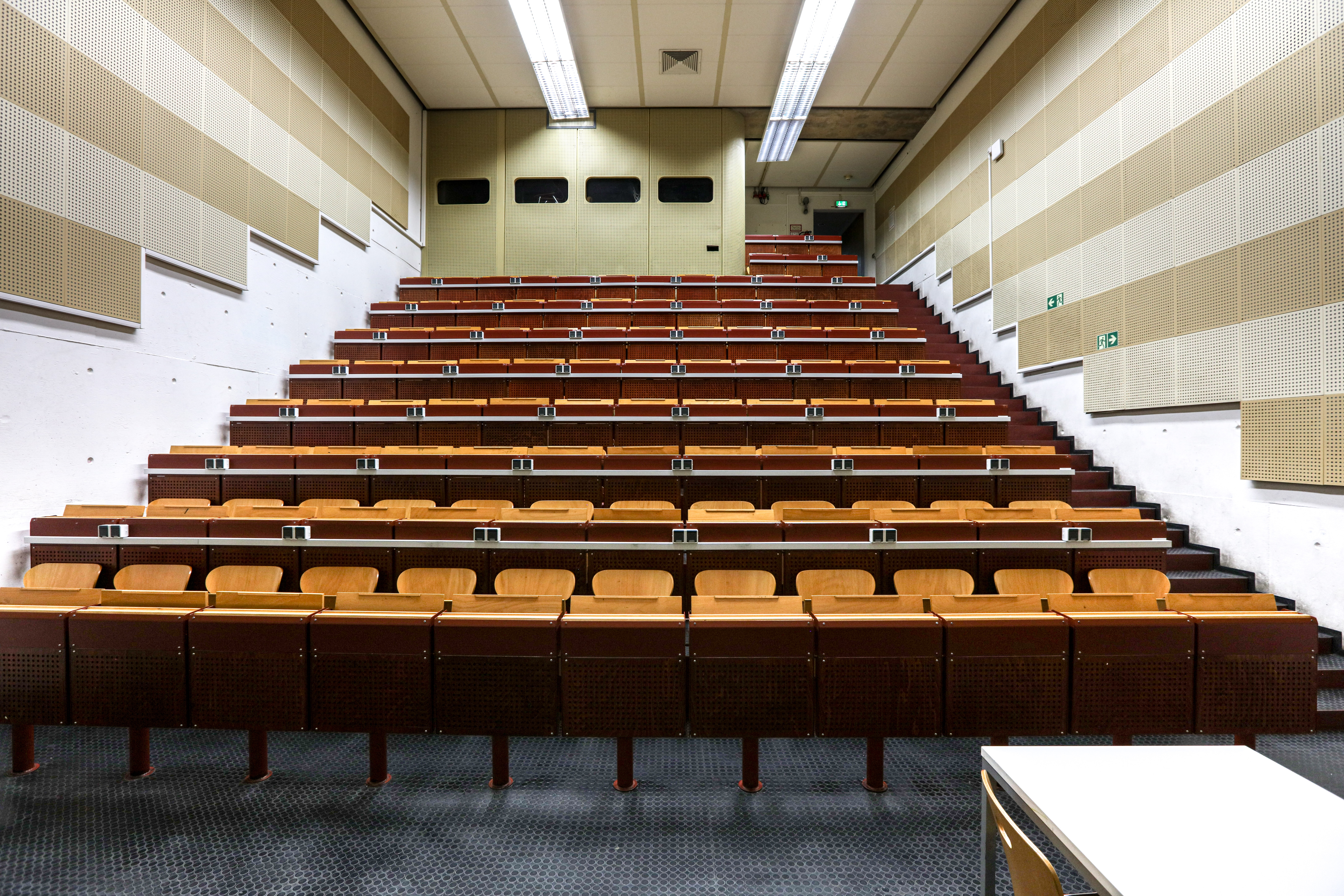 photo of an empty lecture hall