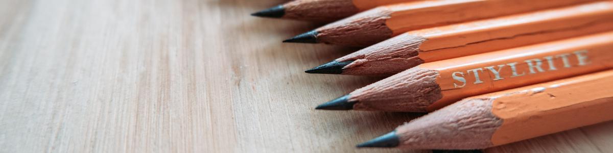 A close-up view of No. 2 pencils